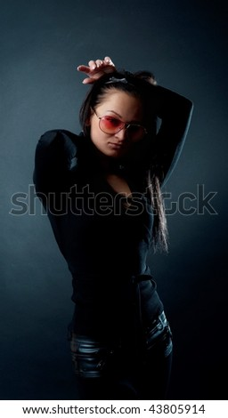 Picture of sexy female wearing sunglasses