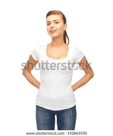 Woman White Shirt Stockfoto's, rechtenvrije afbeeldingen en ...