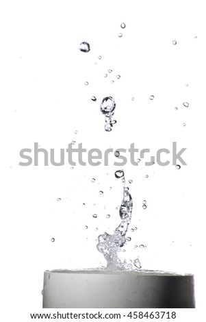 Picture of splash of water on background