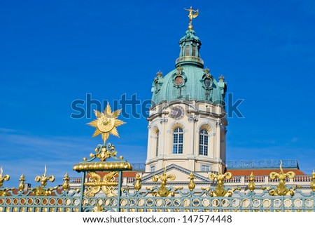 Picture of the castle Charlottenburg in Berlin - stock photo