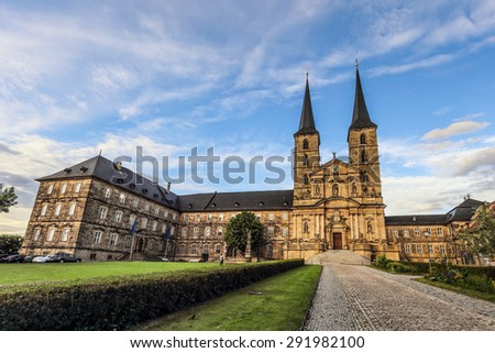 Picture of the Michaelsberg in the evening in the world culture heritage city of Bamberg on a warm June summer day