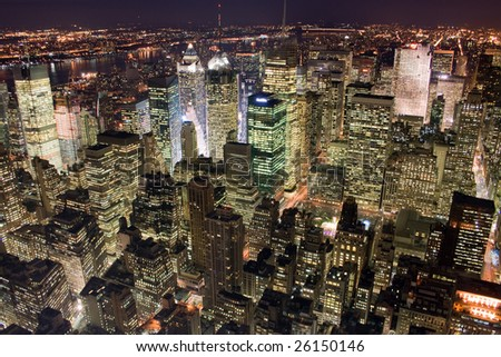 Picture of the office buildings in New York City, Manhattan