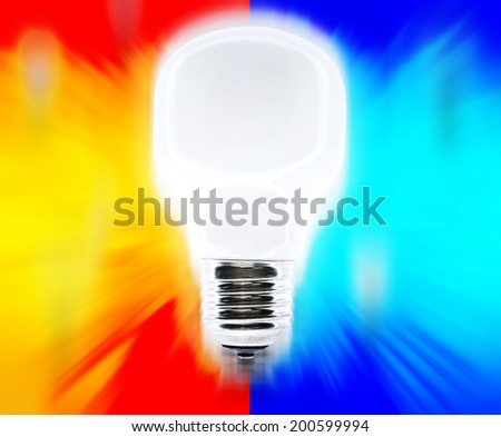 Picture of white bulbs falling. - stock photo