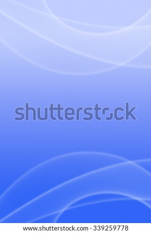 Picture of white motion effects on blurred blue toned background. Vertical digital festive background. - stock photo