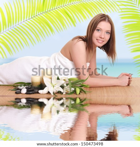 Picture of woman in spa salon - stock photo