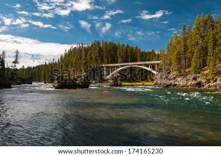 Picture of Yellowstone River in Yellowstone National Park, Wyoming, United States. - stock photo