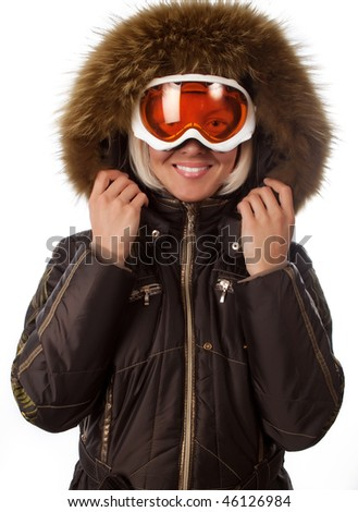 Picture of young happy snowboarder