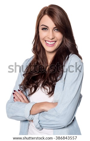 Picture of young model smiling and posing