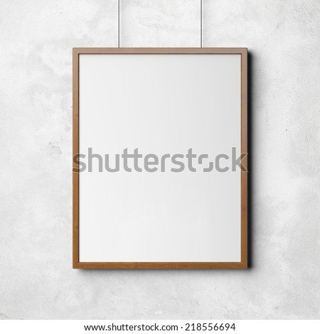 Picture on the wall. - stock photo