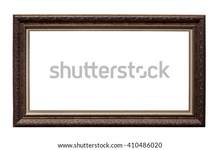 Picture photo frame isolated on white background - stock photo
