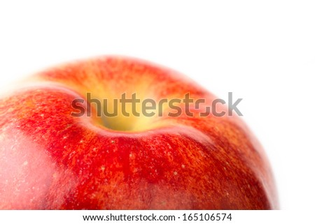 picture ripe apples isolated on a white background. Studio. - stock photo