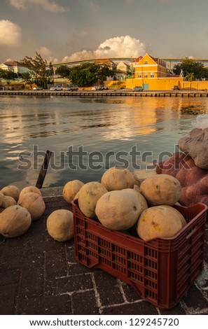 Picture taken in Curacao, Caribbean - stock photo