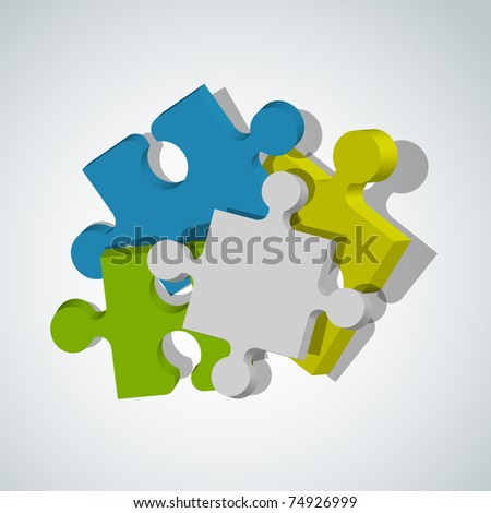 Picture with puzzle pieces