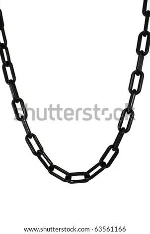 pictures of a chain over a white background - stock photo