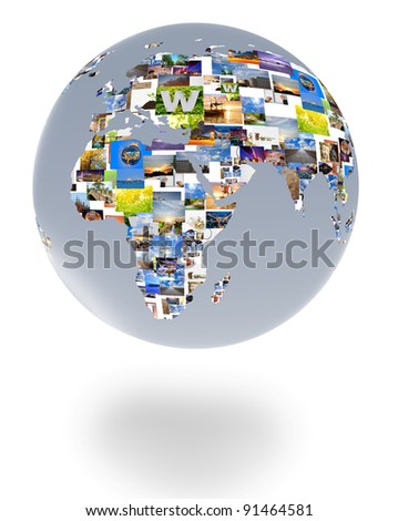 Pictures of the world. - stock photo