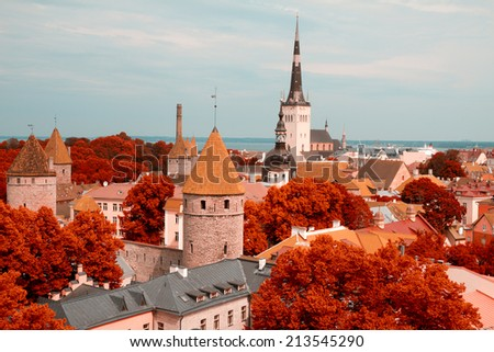 picturesque and very beautiful  photos of Tallinn - stock photo