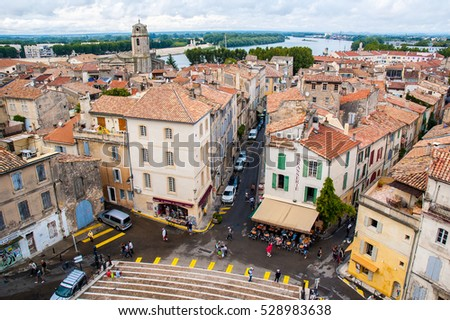 Picturesque city of Arles, France.