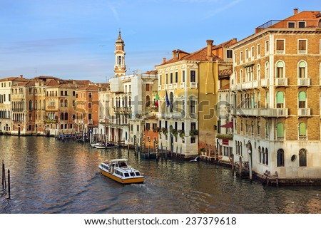 picturesque cityscape of Venice early in the morning, Italy, Europe - stock photo