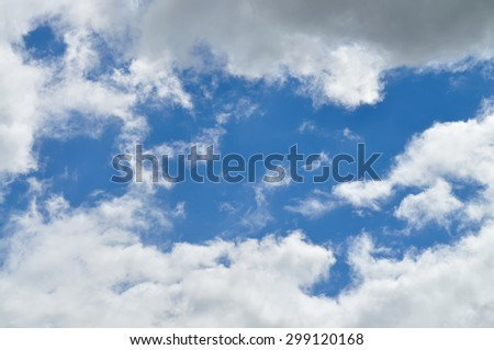Picturesque clouds dissipating at summer sky. - stock photo