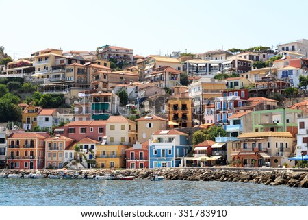 Picturesque coastal city of Parga Greece - stock photo