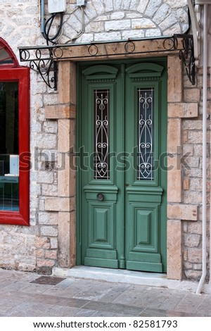 Picturesque Doorway in Nafplion, Greece - stock photo