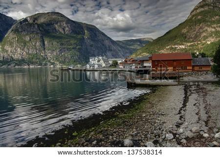 Picturesque Eidfjord, Norway - stock photo