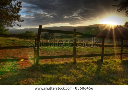 picturesque landscape - stock photo