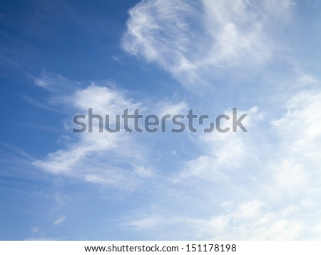 Picturesque landscape with clouds of heaven