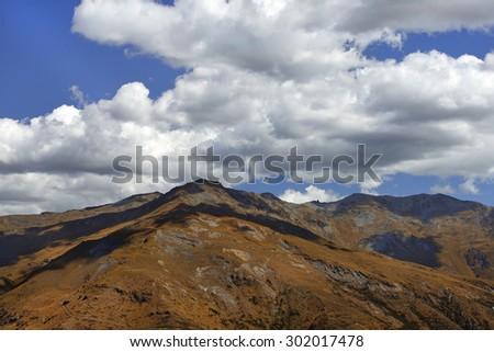 picturesque landscape with wild nature in New Zealand - stock photo