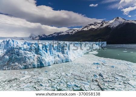 Picturesque mountain landscape with Perito Moreno Glacier. Patagonia. Argentina. - stock photo