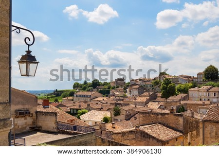 Picturesque rooftops of Saint-Emilion, one of the principal red wine areas of Bordeaux, in France.