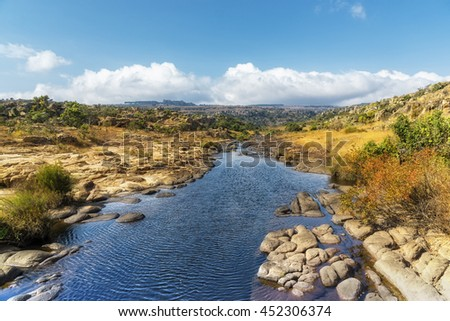 Picturesque shot of a river at the Blyde river canyon panorama route in south africa - stock photo