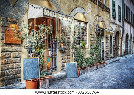 picturesque street in Florence, Italy - stock photo