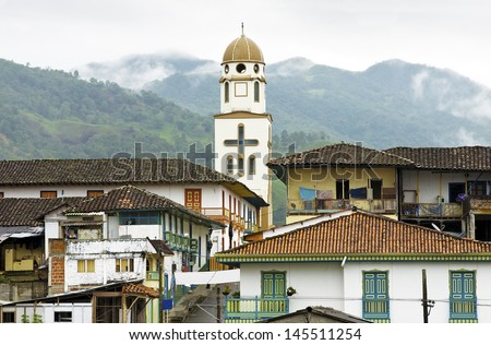 Picturesque Town of Salento in Quindio, Colombia