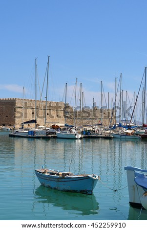 Picturesque Venetian Harbor in Heraklion Crete