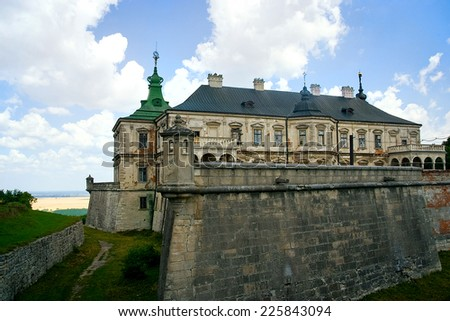 Pidhirtsi Castle. Lviv region, Ukraine, architect Andrea del Aqua - stock photo