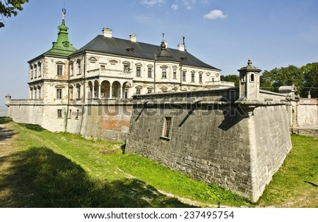 Pidhirtsi Castle, Ukraine - stock photo