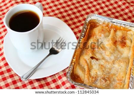 Pie and coffee - stock photo