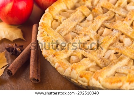 Pie, Apple Pie, Apple. - stock photo