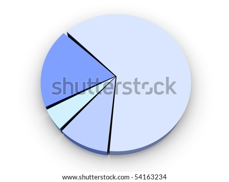Pie Chart - stock photo
