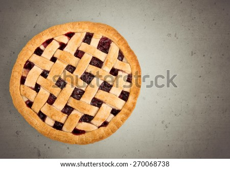 Pie, Cherry Pie, Dessert. - stock photo