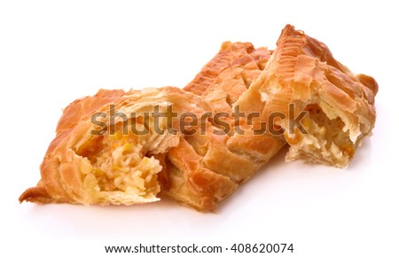 Pie corn isolated on white background.