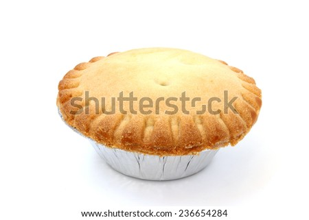 Pie pastry small size on a white background - stock photo