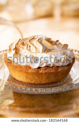 pie with meringue - stock photo