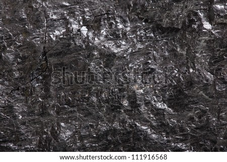 Piece coal closeup macro texture background