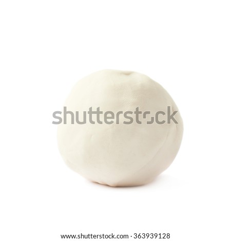 Piece of a modelling clay isolated - stock photo