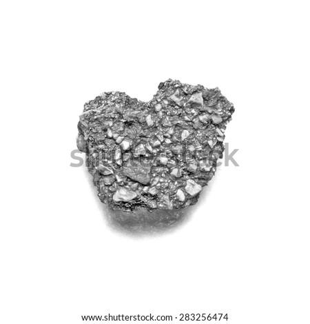 piece of asphalt - illustration based on own photo image - stock photo