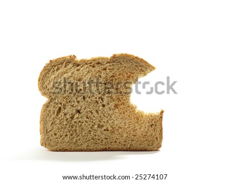 Piece of Bread with Bite taken out