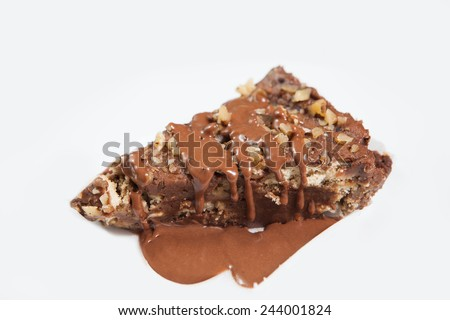 Piece of cake isolated on white