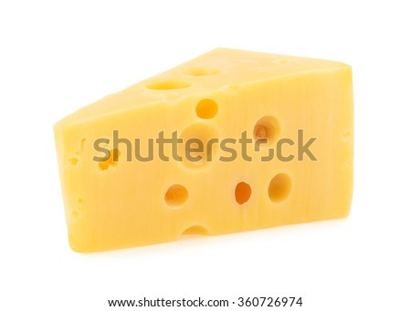 piece of cheese isolated. all images of this series see my portfolio - stock photo